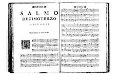 Поэтически-гармоническое вдохновение для голосов и бассо континуо: Том II. Псалм XIII by Бенедетто Марчелло