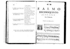 Поэтически-гармоническое вдохновение для голосов и бассо континуо: Том III. Псалм XV by Бенедетто Марчелло