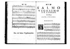 Поэтически-гармоническое вдохновение для голосов и бассо континуо: Том IV. Псалм XXII by Бенедетто Марчелло