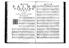 Поэтически-гармоническое вдохновение для голосов и бассо континуо: Том IV. Псалм XXIII by Бенедетто Марчелло