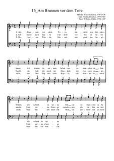 Am Brunnen vor dem Tore: Для мужского хора by Франц Шуберт