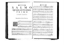 Поэтически-гармоническое вдохновение для голосов и бассо континуо: Том VII. Псалм XLI by Бенедетто Марчелло