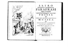 Поэтически-гармоническое вдохновение для голосов и бассо континуо: Том VIII. Введение by Бенедетто Марчелло