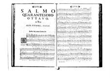 Поэтически-гармоническое вдохновение для голосов и бассо континуо: Том VIII. Псалм XLVIII by Бенедетто Марчелло