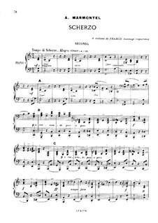 Скерцо для фортепиано в четыре руки: Скерцо для фортепиано в четыре руки by Антуан-Франсуа Мармонтель