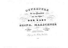 Der Bäbu, Op.98: Ouvertüre, für Klavier, vierhändig – Klavierstimme I by Генрих Маршнер