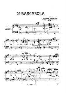 Баркарола No.2, Op.30: Баркарола No.2 by Джузеппе Мартуччи