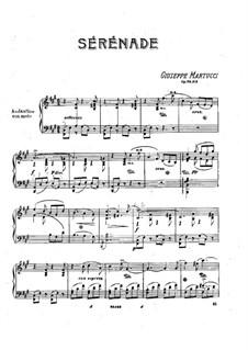 Шесть пьес для фортепиано, Op.38: No.5 Серенада by Джузеппе Мартуччи