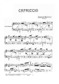 Шесть песен для фортепиано, Op.44: No.1 Каприччио by Джузеппе Мартуччи
