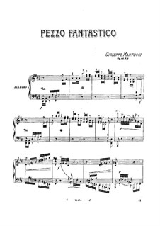 Шесть песен для фортепиано, Op.44: No.2 Фантастическая пьеса by Джузеппе Мартуччи