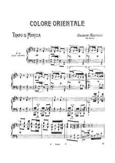 Шесть песен для фортепиано, Op.44: No.3 Colore orientale by Джузеппе Мартуччи