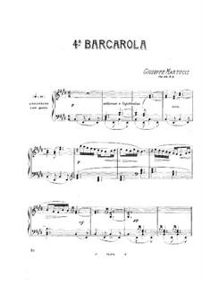 Шесть песен для фортепиано, Op.44: No.4 Баркарола by Джузеппе Мартуччи