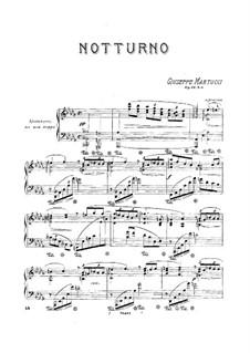 Шесть песен для фортепиано, Op.44: No.5 Ноктюрн by Джузеппе Мартуччи