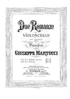 Два романса для виолончели и фортепиано, Op.72: Романс No.1 – партитура для двух исполнителей by Джузеппе Мартуччи
