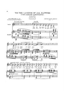 Ariettes oubliées, L.60: No.1 C'est l'extase langoureuse by Клод Дебюсси