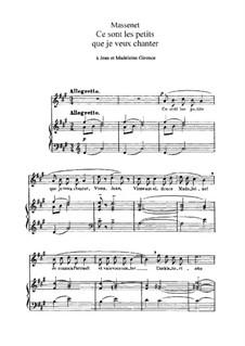 Ce sont les petits que je veux chanter: Ce sont les petits que je veux chanter by Жюль Массне