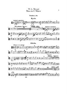 Коронационная месса No.15 до мажор, K.317: Партии тромбонов by Вольфганг Амадей Моцарт