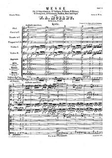 Коронационная месса No.15 до мажор, K.317: Партитура by Вольфганг Амадей Моцарт
