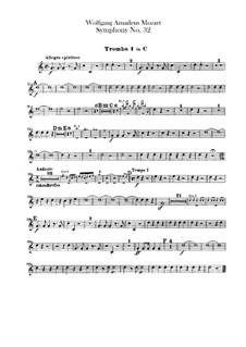 Симфония No.32 соль мажор, K.318: Партии труб by Вольфганг Амадей Моцарт