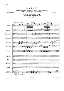 Кирие до мажор, K.323: Кирие до мажор by Вольфганг Амадей Моцарт