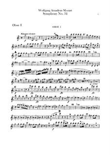 Симфония No.34 до мажор, K.338: Партии гобоев by Вольфганг Амадей Моцарт