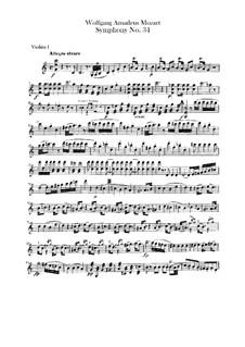 Симфония No.34 до мажор, K.338: Партии скрипок by Вольфганг Амадей Моцарт