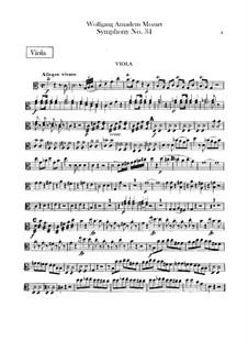 Симфония No.34 до мажор, K.338: Партия альта by Вольфганг Амадей Моцарт