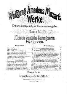Кирие фа мажор, K.33: Кирие фа мажор by Вольфганг Амадей Моцарт