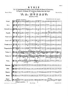 Кирие ре минор, K.341: Кирие ре минор by Вольфганг Амадей Моцарт