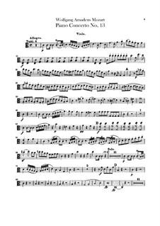 Концерт для фортепиано с оркестром No.13 до мажор, K.415: Партия альта by Вольфганг Амадей Моцарт