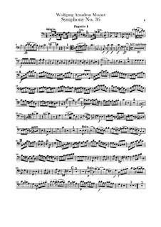 Симфония No.36 до мажор, K.425: Партии фаготов by Вольфганг Амадей Моцарт