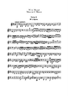 Большая месса до минор, K.427, K.417a: Скрипка II by Вольфганг Амадей Моцарт