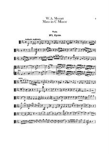 Большая месса до минор, K.427, K.417a: Партия альта by Вольфганг Амадей Моцарт