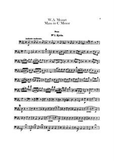 Большая месса до минор, K.427, K.417a: Партия контрабаса by Вольфганг Амадей Моцарт