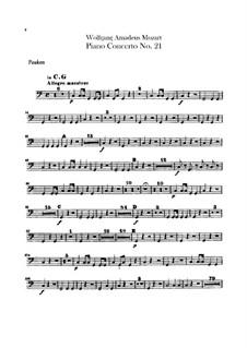 Концерт для фортепиано с оркестром No.21 до мажор, K.467: Партия литавр by Вольфганг Амадей Моцарт