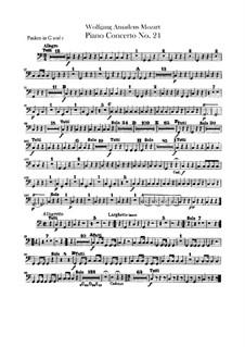 Концерт для фортепиано с оркестром No.24 до минор, K.491: Партия литавр by Вольфганг Амадей Моцарт