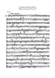 Концерт для фортепиано с оркестром No.25 до мажор, K.503: Партии валторн by Вольфганг Амадей Моцарт