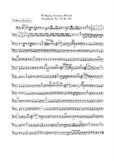 Симфония No.39 ми-бемоль мажор, K.543: Партия литавр by Вольфганг Амадей Моцарт