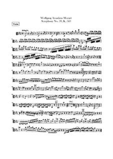 Симфония No.39 ми-бемоль мажор, K.543: Партия альта by Вольфганг Амадей Моцарт