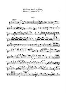 Концерт для фортепиано с оркестром No.27 си-бемоль мажор, K.595: Партия флейты by Вольфганг Амадей Моцарт