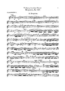 Все части: Партии кларнетов by Вольфганг Амадей Моцарт
