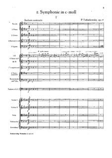 Симфония No.2 до минор 'Малороссийская', TH 25 Op.17: Партитура by Петр Чайковский