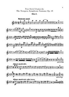 Буря, TH 44 Op.18: Партии гобоев by Петр Чайковский