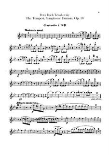 Буря, TH 44 Op.18: Партии кларнетов by Петр Чайковский