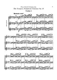 Буря, TH 44 Op.18: Партия I скрипок by Петр Чайковский
