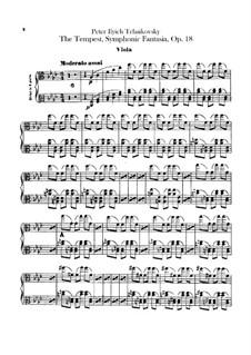 Буря, TH 44 Op.18: Партия альтов by Петр Чайковский