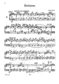 Шесть пьес для фортепиано, TH 133 Op.19: No.4 Ноктюрн, для фисгармонии by Петр Чайковский