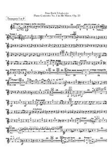 Концерт для фортепиано с оркестром No.1 си-бемоль минор, TH 55 Op.23: Партии труб by Петр Чайковский