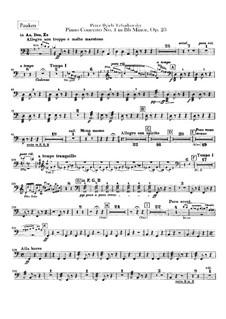 Концерт для фортепиано с оркестром No.1 си-бемоль минор, TH 55 Op.23: Партия литавр by Петр Чайковский