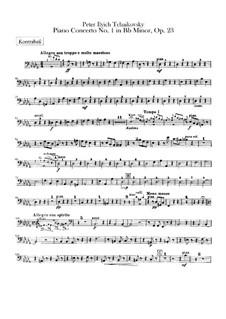 Концерт для фортепиано с оркестром No.1 си-бемоль минор, TH 55 Op.23: Партия контрабаса by Петр Чайковский